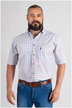 Camisas, Sport Manga Corta, 109654, CELESTE