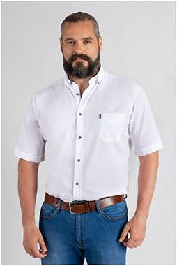 Camisas, Sport Manga Corta, 109656, BLANCO