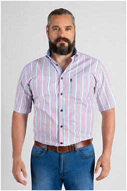 Camisas, Sport Manga Corta, 109657, CELESTE