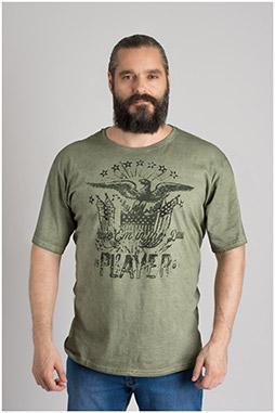 Sport, Camisetas M. Corta, 109667, KAKI