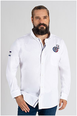 Camisas, Sport Manga Larga, 109796, BLANCO