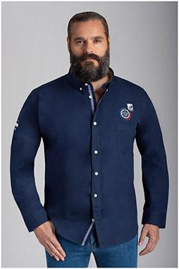 Camisas, Sport Manga Larga, 109796, MARINO