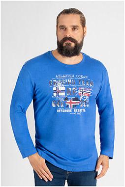 Sport, Camisetas M. Larga, 109804, COBALTO