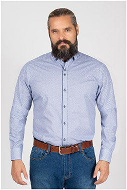 Camisas, Sport Manga Larga, 109845, MARINO