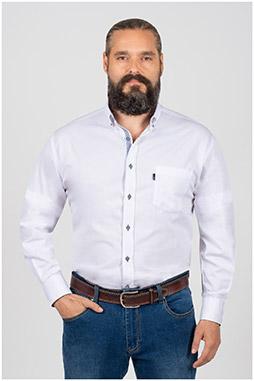 Camisas, Sport Manga Larga, 109846, BLANCO