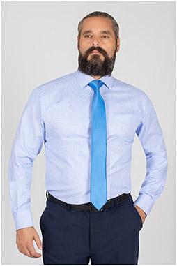 Camisas, Vestir Manga Larga, 109848, CELESTE