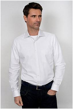 Camisas, Vestir Manga Larga, 109909, BLANCO