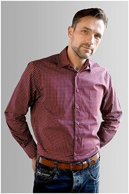 Camisas, Sport Manga Larga, 109912, GRANATE