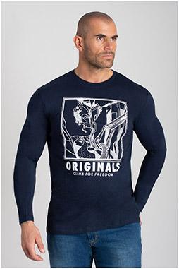 Sport, Camisetas M. Larga, 109962, MARINO