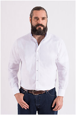 Camisas, Sport Manga Larga, 109967, BLANCO