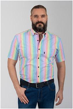 Camisas, Sport Manga Corta, 110056, ROJO