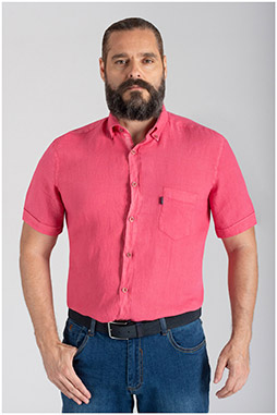 Camisas, Sport Manga Corta, 110073, CORAL