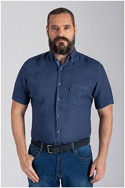 Camisas, Sport Manga Corta, 110073, MARINO