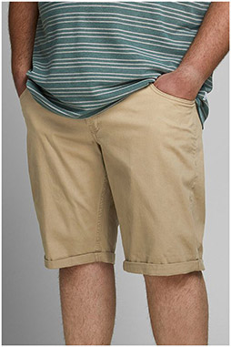 Pantalones, Bermudas, 110104, BEIGE