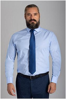 Camisas, Vestir Manga Larga, 110152, CELESTE