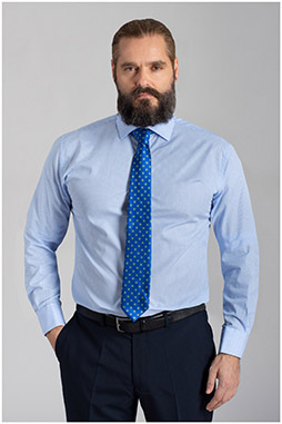 Camisas, Vestir Manga Larga, 110153, CELESTE