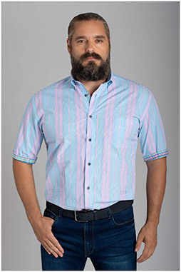 Camisas, Vestir Manga Corta, 110154, TURQUESA