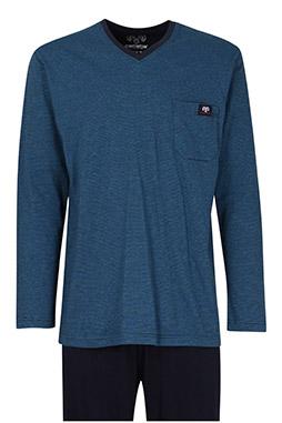 Homewear, Pijama M. Larga, 110261, AZUL