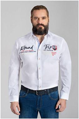 Camisas, Sport Manga Larga, 110347, BLANCO