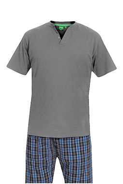 Homewear, Pijama M. Corta, 110413, GRIS MEDIO