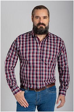 Camisas, Sport Manga Larga, 110420, GRANATE
