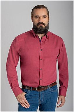Camisas, Sport Manga Larga, 110422, GRANATE