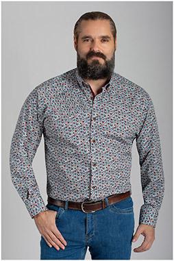 Camisas, Sport Manga Larga, 110423, BEIGE