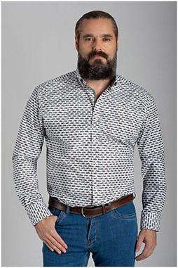 Camisas, Sport Manga Larga, 110425, BLANCO