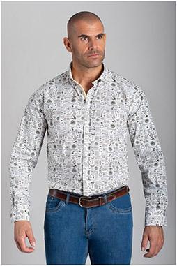 Camisas, Sport Manga Larga, 110427, BLANCO