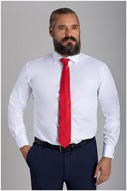 Camisas, Vestir Manga Larga, 110453, BLANCO