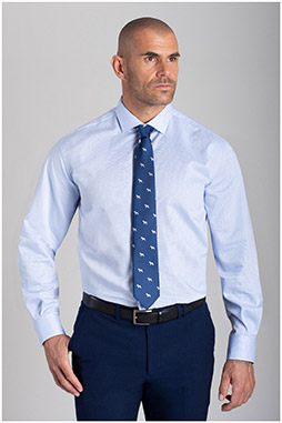 Camisas, Vestir Manga Larga, 110477, CELESTE