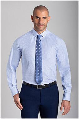 Camisas, Vestir Manga Larga, 110478, CELESTE