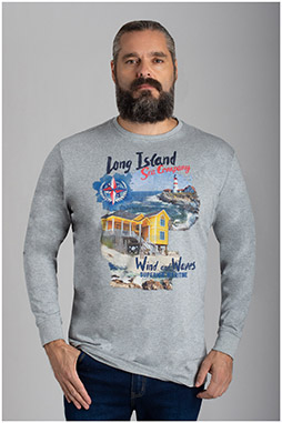 Sport, Camisetas M. Larga, 110486, GRIS MEDIO
