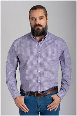 Camisas, Sport Manga Larga, 110561, MARINO