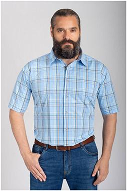 Camisas, Sport Manga Corta, 110576, AZUL