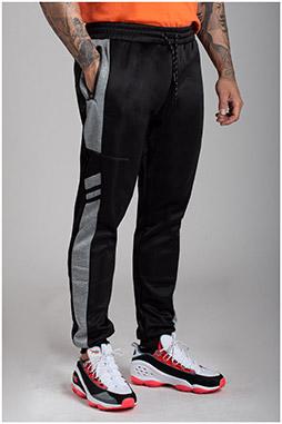 Pantalones, Chandal, 110586, NEGRO