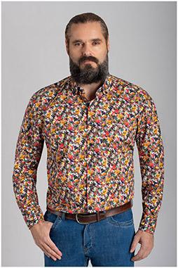 Camisas, Sport Manga Larga, 110637, GRANATE