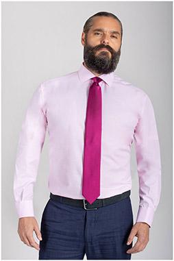 Camisas, Vestir Manga Larga, 110742, ROSA