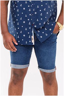 Pantalones, Bermudas, 110866, INDIGO