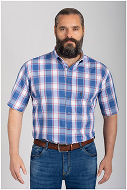 Camisas, Sport Manga Corta, 110874, MARINO