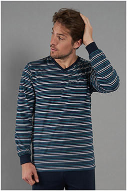 Homewear, Pijama M. Larga, 111051, GRIS MEDIO