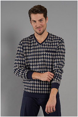 Homewear, Pijama M. Larga, 111056, GRIS MEDIO