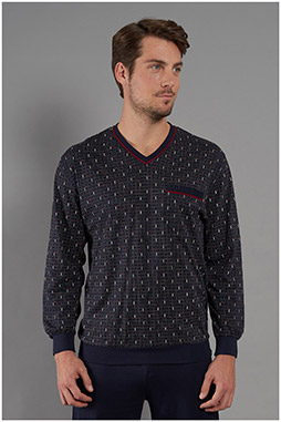 Homewear, Pijama M. Larga, 111057, MARINO