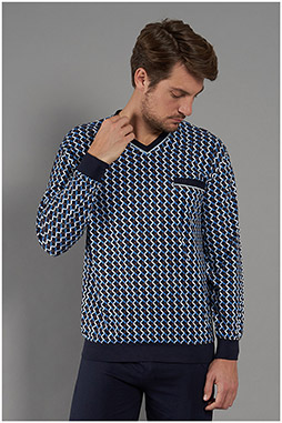 Homewear, Pijama M. Larga, 111059, MARINO