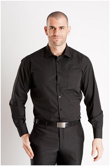 Camisas, Vestir Manga Larga, 102522, NEGRO