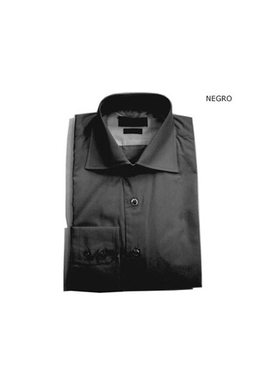 Camisas, Vestir Manga Larga, 103422, NEGRO