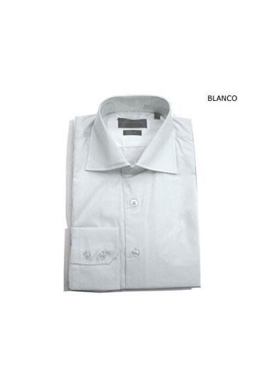 Camisas, Vestir Manga Larga, 103422, BLANCO