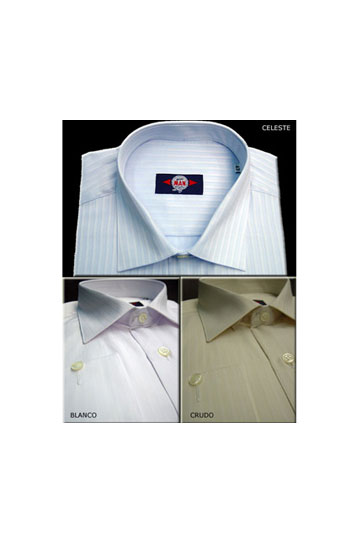 Camisas, Vestir Manga Larga, 103671, CELESTE