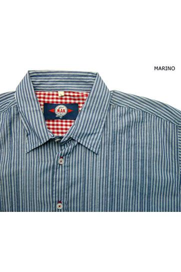Camisas, Sport Manga Larga, 104131, MARINO