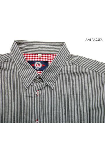 Camisas, Sport Manga Larga, 104131, ANTRACITA